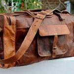 """24 """"véritable sac de voyage en cuir vintage grande Voyage duffle gymnase Weekender Hommes de la marque ANUENT image 2 produit"""