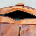 """24 """"véritable sac de voyage en cuir vintage grande Voyage duffle gymnase Weekender Hommes de la marque ANUENT image 3 produit"""