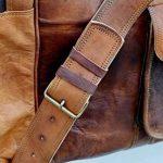 """24 """"véritable sac de voyage en cuir vintage grande Voyage duffle gymnase Weekender Hommes de la marque ANUENT image 5 produit"""
