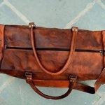 """24 """"véritable sac de voyage en cuir vintage grande Voyage duffle gymnase Weekender Hommes de la marque ANUENT image 6 produit"""