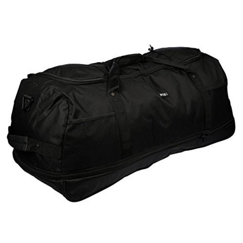 3 Rouleaux - Sac de voyage - Sac de sport - Sac de loisir - seulement 1,4 kg - Plis - 80cm - Volume jusqu'à 140 Litre 4 Couleurs - Noir