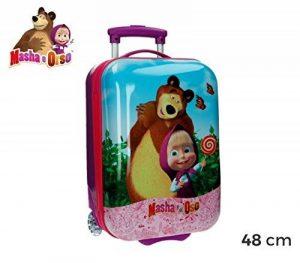 4731151 Valise chariot, bagage cabine ABS MASHA ET L'OURS 48X30X18 cm de la marque MEDIA WAVE store ® image 0 produit