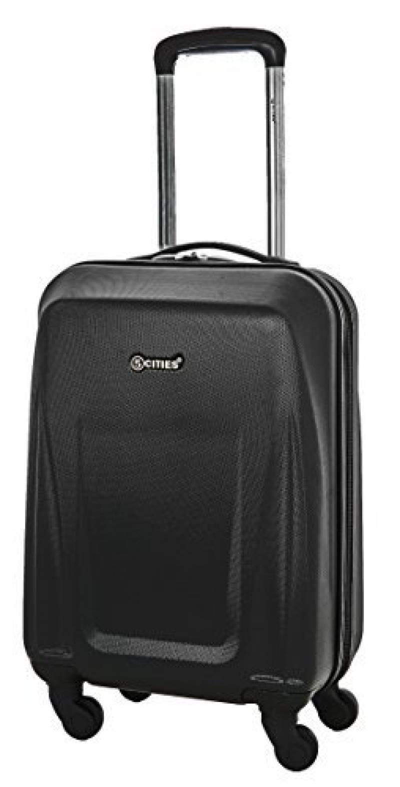 SUITLINE - Bagage à main, Valise cabine, Trolley, 4 roues, ABS très léger, TSA, 55 cm, 34 litres, Pink