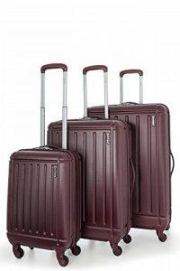 5 Cities ABS Set de 3 Valises Rigides Légeres à 4 Roulettes , Bagage Cabine + 71cm + 81cm de la marque 5 Cities image 0 produit