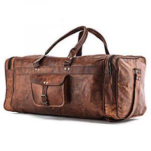 A.P. Donovan - sac de vacances, utilisable pour la forme physique, Voyage - idéal comme bagage à main - angulaire, vintage - à la main - cuir de la marque A.P. Donovan image 0 produit