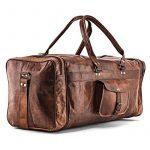 A.P. Donovan - sac de vacances, utilisable pour la forme physique, Voyage - idéal comme bagage à main - angulaire, vintage - à la main - cuir de la marque A.P. Donovan image 3 produit