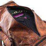 A.P. Donovan - sac de vacances, utilisable pour la forme physique, Voyage - idéal comme bagage à main - angulaire, vintage - à la main - cuir de la marque A.P. Donovan image 4 produit
