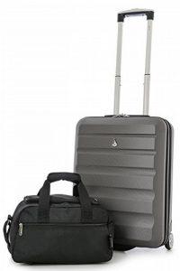 Aerolite 55x40x20 Taille Maximale Ryanair ABS Bagage Cabine à Main Valise Rigide Léger 2 Roulettes de la marque Aerolite image 0 produit