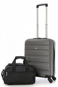 Aerolite 55x40x20 Taille Maximale Ryanair ABS Bagage Cabine à Main Valise Rigide Léger 4 Roulettes de la marque Aerolite image 0 produit