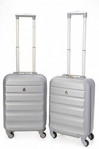 Aerolite ABS Bagage Cabine à Main Valise Rigide Léger 4 Roulettes, Set de 2 de la marque Aerolite image 0 produit