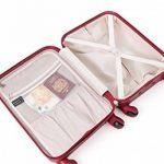 Aerolite ABS Coque rigide en plastique 4roues Spinner de voyage Carreaux en tenir Chariot à bagages Valise Set de 2pièces, M, 63,5cm + grand 73,7cm de la marque Aerolite image 1 produit