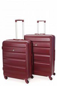 Aerolite ABS Coque rigide en plastique 4roues Spinner de voyage Carreaux en tenir Chariot à bagages Valise Set de 2pièces, M, 63,5cm + grand 73,7cm de la marque Aerolite image 0 produit
