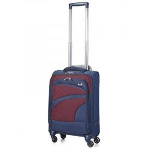 Aerolite Bagage Cabine Bagage à Main Valise Souple Légere à 4 Roulettes , Approuvées pour Ryanair , Easyjet , Air France , Lufthansa , Jet2 , Monarch et Plus , Blue Marine/Violet de la marque Aerolite image 0 produit