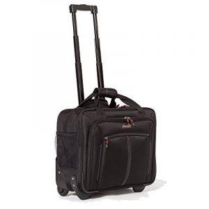 Aerolite Sac à roulettes pour ordinateur portable Trolley pour PC portable - Baggage à main pour Ryanair, Air France (Noir) de la marque Aerolite image 0 produit