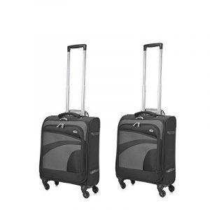 Aerolite Taille Maximale Ryanair 55x40x20 Bagage Cabine à Main Valise Souple Léger 4 Roulettes Noir/Gris de la marque Aerolite image 0 produit