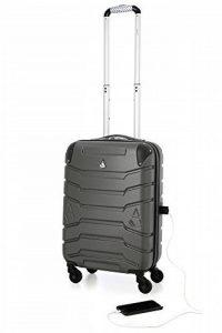 Aerolite Valise SMART avec Port pour Chargeur Téléphone USB , ABS Bagage Cabine Bagage à Main Rigide Légere à 4 Roulettes , Approuvées pour Ryanair Easyjet Air France Lufthansa et Plus de la marque Aerolite image 0 produit