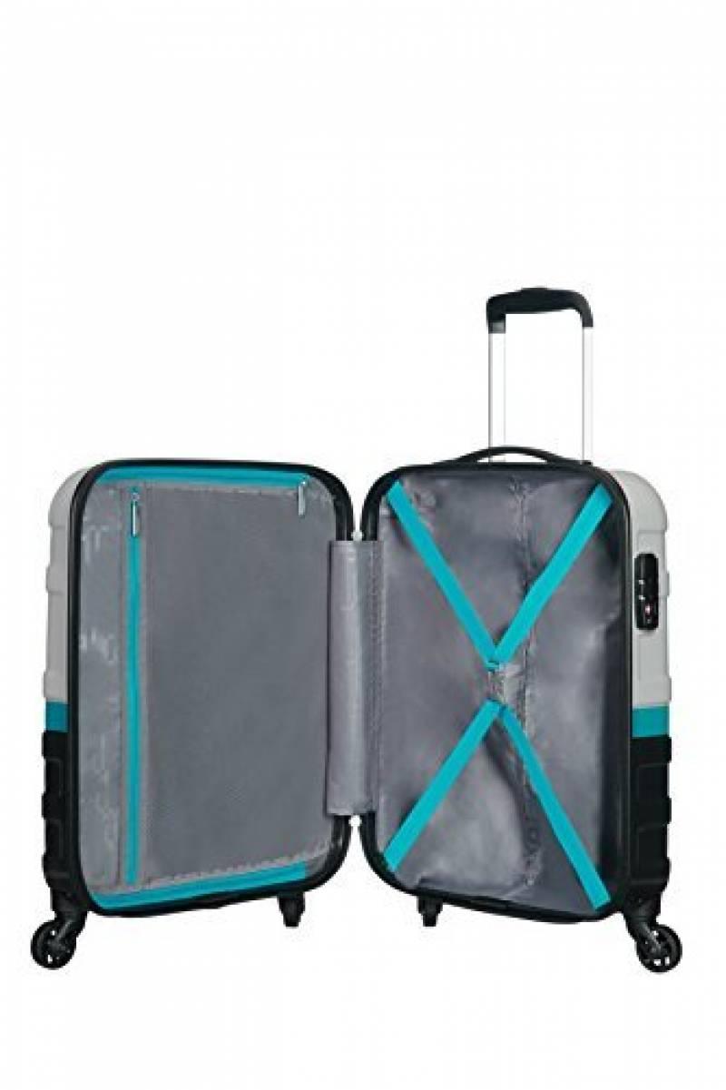 JET LAG VALISES X3 Bagage Cabine Bleu Corail Blanc 76 cm