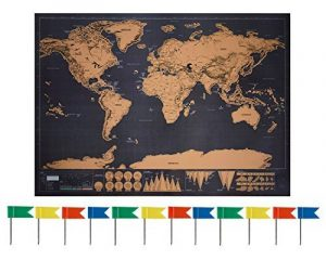 Anokay Carte à Gratter - grand Map du Monde à Gratter - poster Monde XXL, Travel Voyage 82 x 60 cm/ Règle créative pour Voyage (12 Drapeaux gratuits) de la marque Anokay image 0 produit