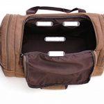 Arkind Sac bandoulière Polochon Sac Voyage Gym Sac à main Epaule Baggage pour Homme Femme en Toile Marron Café de la marque Arkind image 3 produit