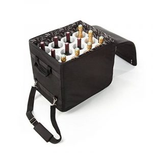 Bagage à Vin pour 12 bouteilles de Champagne/Bourgogne - Wine Check luggage + Lazenne Bottle protector for 12 bottles de la marque The Wine Check & Lazenne image 0 produit