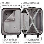 Bagage Cabin Max Tuscany Ultra Léger 2.4kg ABS Coque Solide Voyage Transport Bagage Cabine Bagage à Main Valise à 4 Roulettes, Autorisée par Ryanair, Easyjet, et Bien d'Autres de la marque Cabin Max image 5 produit