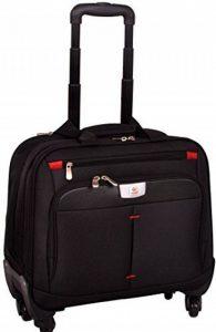 """Bagage porte-documents à 4 roulettes - style business/compartiment pour ordinateur portable 16 """" de la marque Lombard image 0 produit"""