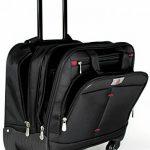 """Bagage porte-documents à 4 roulettes - style business/compartiment pour ordinateur portable 16 """" de la marque Lombard image 1 produit"""