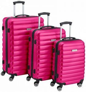Bagages Zone côtelée Coque rigide 3pièces Valises, S/M/L, Nombre, droite, serrure, garantie 3ans de la marque Luggagezone image 0 produit