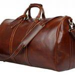BAIGIO Sac de voyage hommes en cuir Crazy Horse marron de la marque Baigio image 2 produit