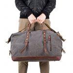 BAOSHA HB-14 ÉNORME élégant Sac de Voyage Week-end Sac de Sport en toile et PU cuir de la marque BAOSHA image 5 produit