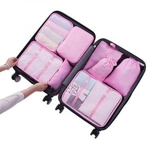 Belsmi 8 Set Voyage Organisateur - 4 Cubes De Voyage + 3 Poches + 1 Chaussures Premium Sac de la marque Belsmi image 0 produit