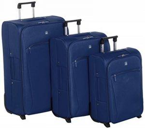 Benetton Set de 3 Valises à Roulettes FUSION_56A74124_NAVY-BLUE Bleu 17 L de la marque Benetton image 0 produit