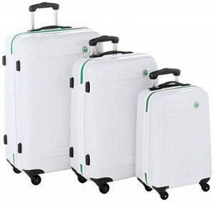 Benetton Set de 3 Valises à Roulettes SLASH_58373349_WHITE Blanc 21 L de la marque Benetton image 0 produit