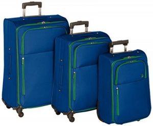 Benetton Set de 3 Valises à Roulettes UNDERSCORE_58073313_BLUE Bleu 18 L de la marque Benetton image 0 produit