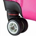 BRUBAKER Valise cabine 51x37x24 cm - Trolley en ABS ultra Léger - 4 roues 360° - Extensible - Fuchsia de la marque Brubaker image 3 produit