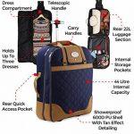Cabin Max Monaco carrier robe bagage main valise 55x40x20cm. Parfait pour les vols Ryanair et easyJet de la marque Cabin Max image 5 produit