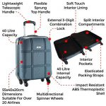 Cabin Max Turin bagage à mains pour cabine 55 x 40 x 20 cm de la marque Cabin Max image 4 produit