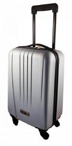Cabin Max – Valise de cabine rigide en ABS ultrarésistant a 4 roues multidirectionnelles – En Argent/Gris de la marque Cabin Max image 0 produit