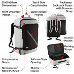 Canberra Cabin Backpack compatible IATA - 55 x 35 x 20 cm de la marque Cabin Max image 4 produit