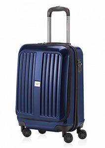 Capitale Valise série xberg avec combinaison TSA Bleu foncé brillant 42L + Coffret Pendentif en noir de la marque Haupstadtkoffer image 0 produit