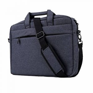 "Clamshell Sacoche pour Ordinateur Portable 15,6-17"", iCasso imperméable Sac à Bandoulière Besaces/ Tablette Sleeve pour MacBook Air /Pro Retina HP Dell Samsung Sony ASUS Lenovo Surface Pro - Noir de la marque iCasso image 0 produit"