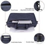 "Clamshell Sacoche pour Ordinateur Portable 15,6-17"", iCasso imperméable Sac à Bandoulière Besaces/ Tablette Sleeve pour MacBook Air /Pro Retina HP Dell Samsung Sony ASUS Lenovo Surface Pro - Noir de la marque iCasso image 4 produit"