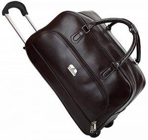 Coofit Sac de voyage en roue valise business homme sac de voyage des affaires en pu cuir pour femme et homme de la marque Coofit image 0 produit