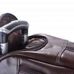 Coofit Sac de voyage en roue valise business homme sac de voyage des affaires en pu cuir pour femme et homme de la marque Coofit image 4 produit