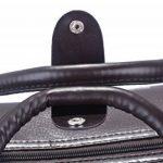 Coofit Sac de voyage en roue valise business homme sac de voyage des affaires en pu cuir pour femme et homme de la marque Coofit image 5 produit