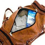 Cool Stuff Grand Sac Fourre-tout en cuir sac de voyage sac week-end Cabine Nuit Sport Sac fourre-tout de la marque COOL STUFF image 1 produit