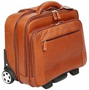 Cortez - Bagage à roulettes taille cabine - housse d'ordinateur portable amovible - cuir de Colombie - marron foncé de la marque Cortez image 0 produit