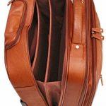 Cortez - Bagage à roulettes taille cabine - housse d'ordinateur portable amovible - cuir de Colombie - marron foncé de la marque Cortez image 4 produit