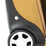 Cortez - Bagage à roulettes taille cabine - housse d'ordinateur portable amovible - cuir de Colombie - marron foncé de la marque Cortez image 5 produit