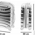 COUPLE CHARIOT CABINE VALISE HAND DUR BAGAGES GIANMARCO VENTURI CABINE SIZE LOW COST RYANAIR EASYJET TAILLE VALISE CABINE BAGAGES de la marque GIANMARCO VENTURI image 5 produit